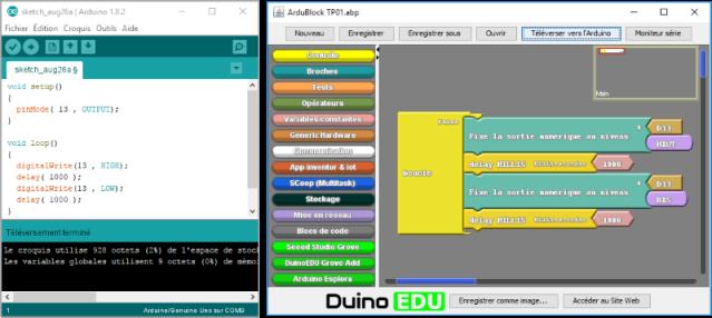 Langages de programmation de l'Arduino
