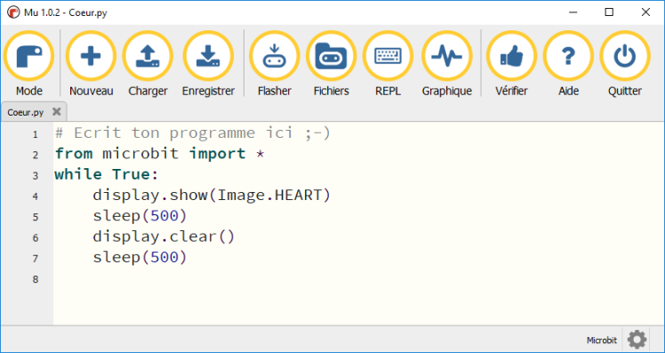 Exemple de code MicroPython