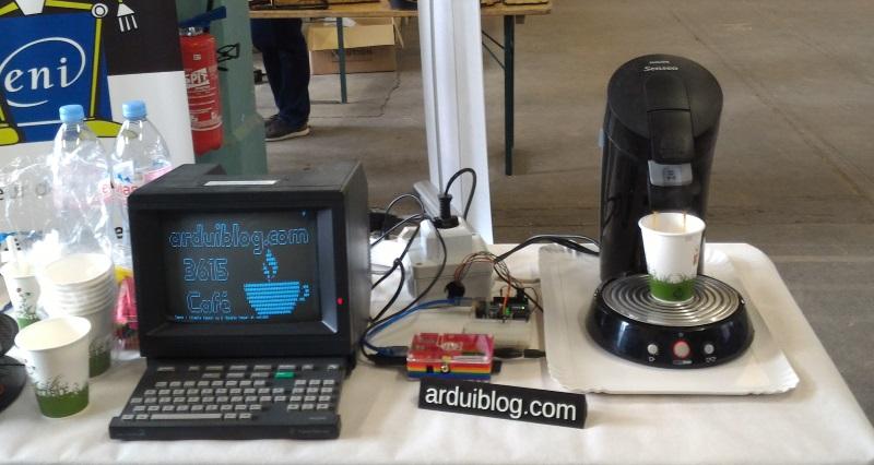 3615 Café, contrôler une cafetière avec un Arduino