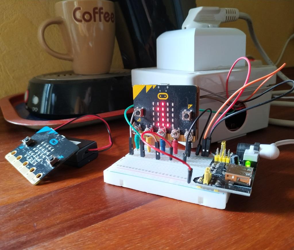 Une cafetière pilotée par Microbit