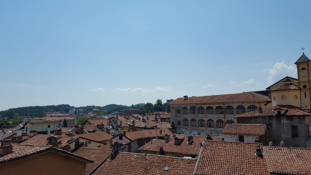 Ivrée, vue des hauteurs de la ville.