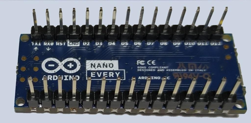 L'Arduino Nano Every vu de dessous