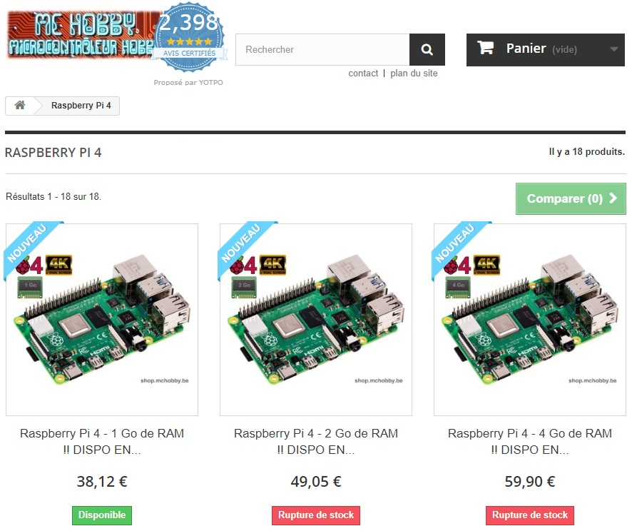 MC Hobby - Vente de Raspberry, Arduino, MicroBit