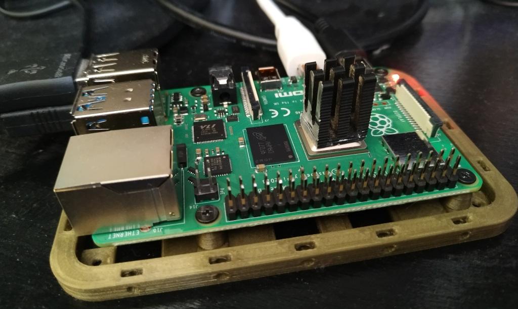 Raspberry Pi 4 avec dissipateur mais sans ventilateur