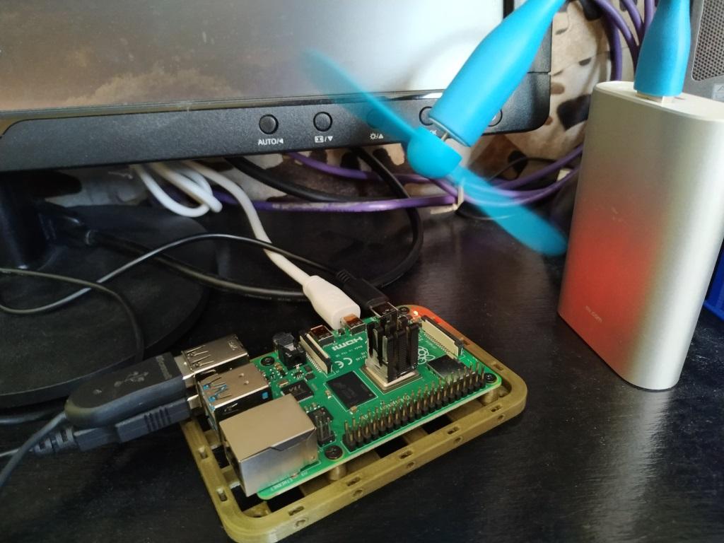 Raspberry Pi 4 avec dissipateur et ventilateur