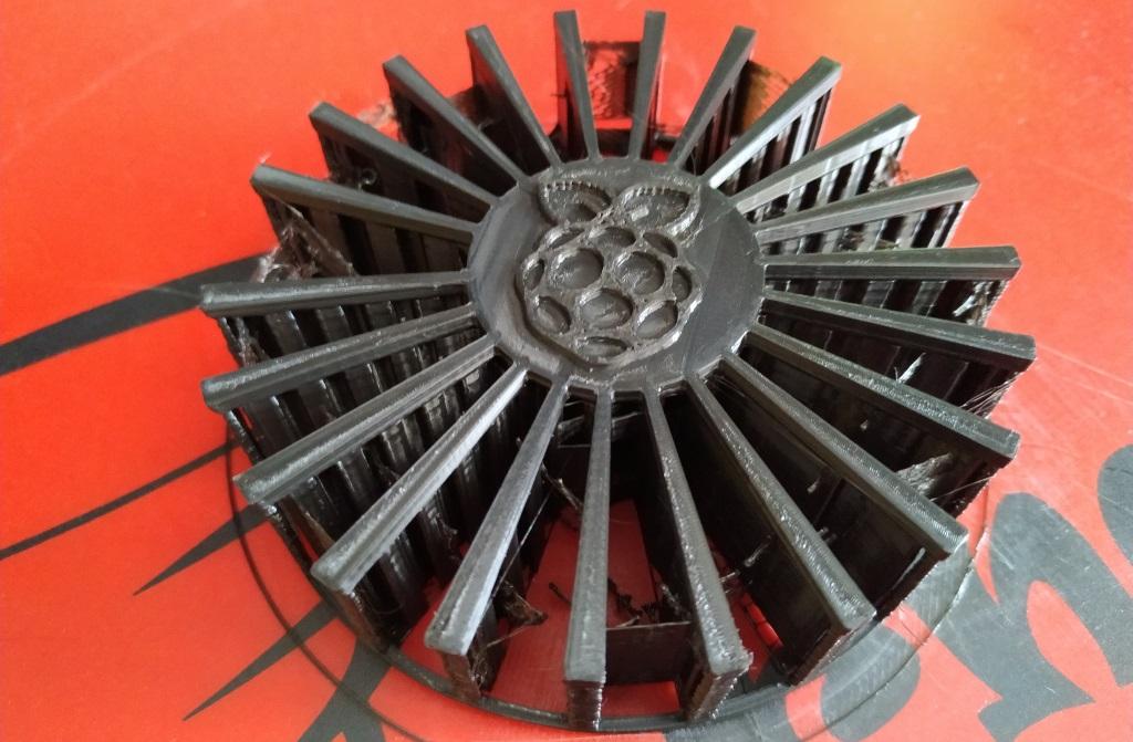 Impression d'une grille de protection pour le ventilateur.
