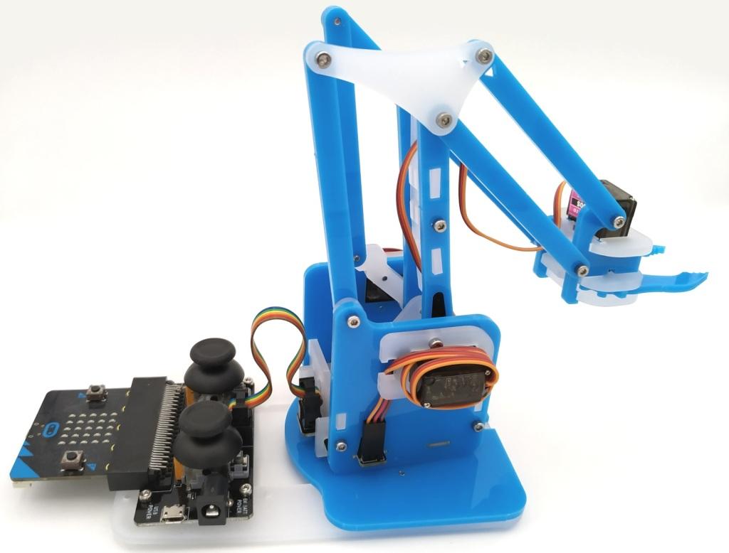 MeArm Robot micro:bit Kit blue de Kitronik