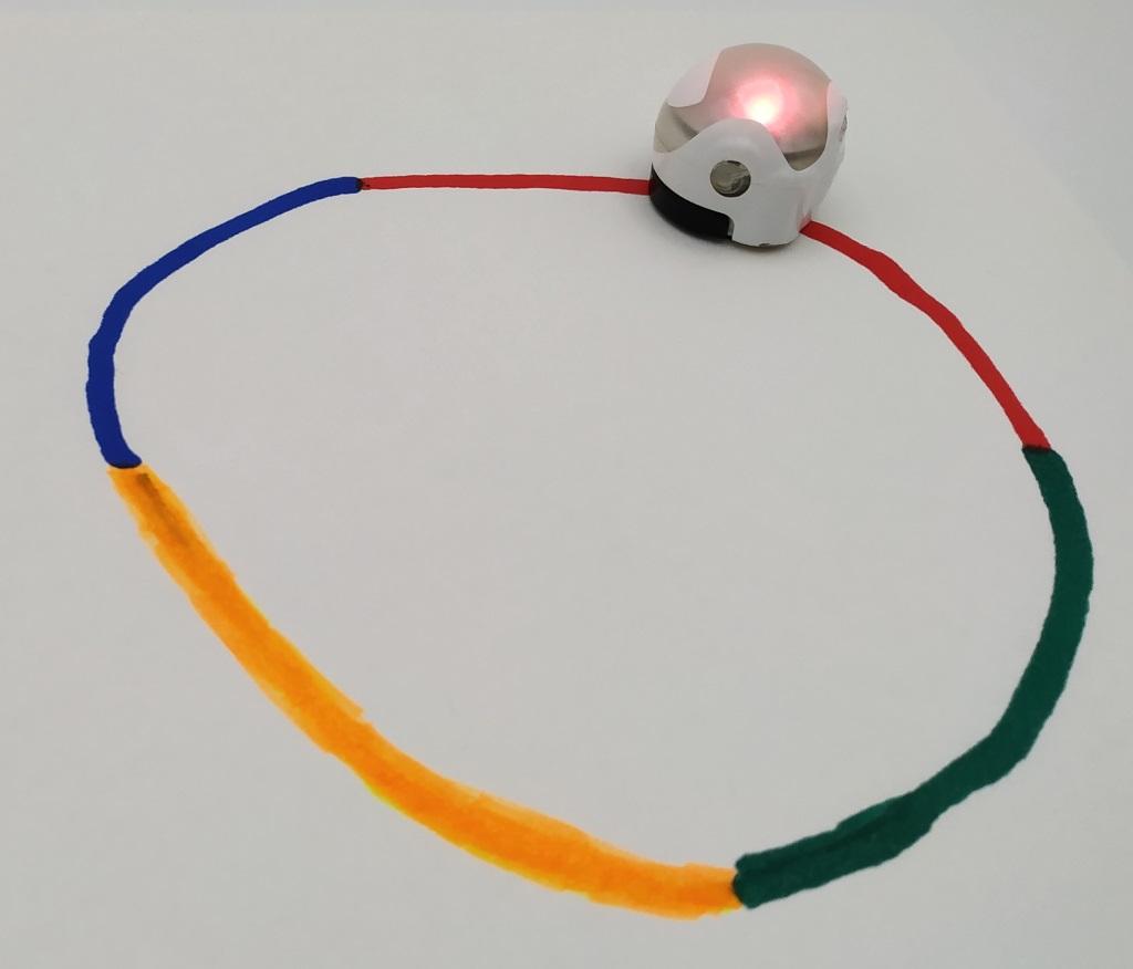 Un circuit en couleur pour Ozobot