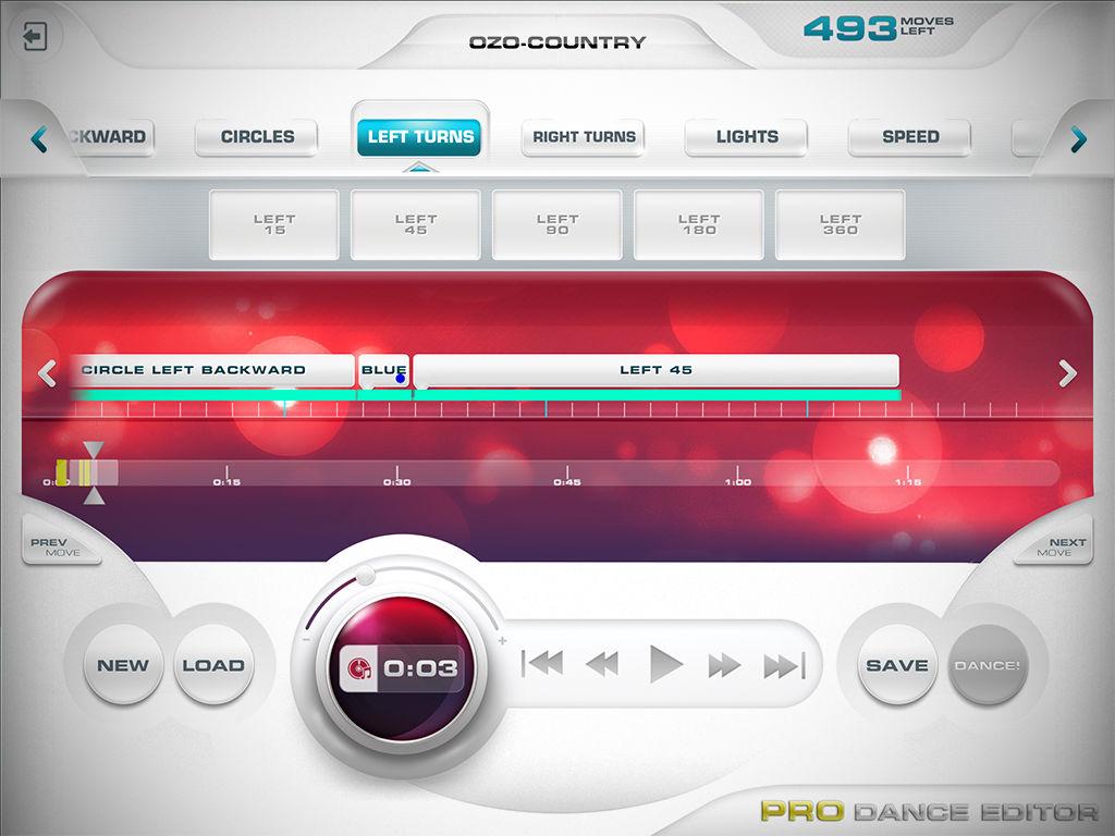 Créer de nouvelles chorégraphies avec l'application Ozobot Bit Groove