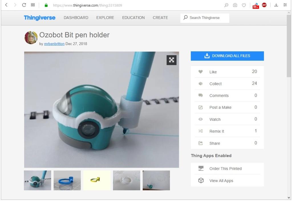 Ajouter un support de crayon à l'Ozobot (à télécharger et imprimer en 3D)