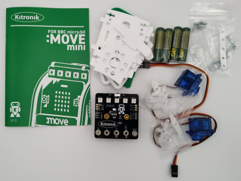 Les pièces composant le kit robot MOVE mini