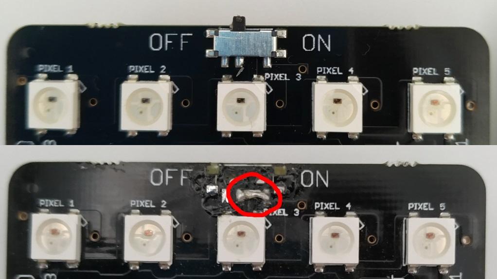 Réparation de l'interrupteur cassé sur la carte ServoLite