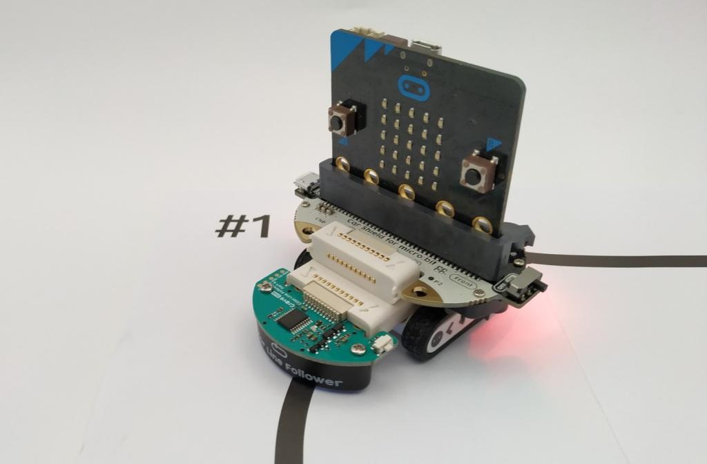 Bit Kit Micro:Car, robot suiveur de ligne