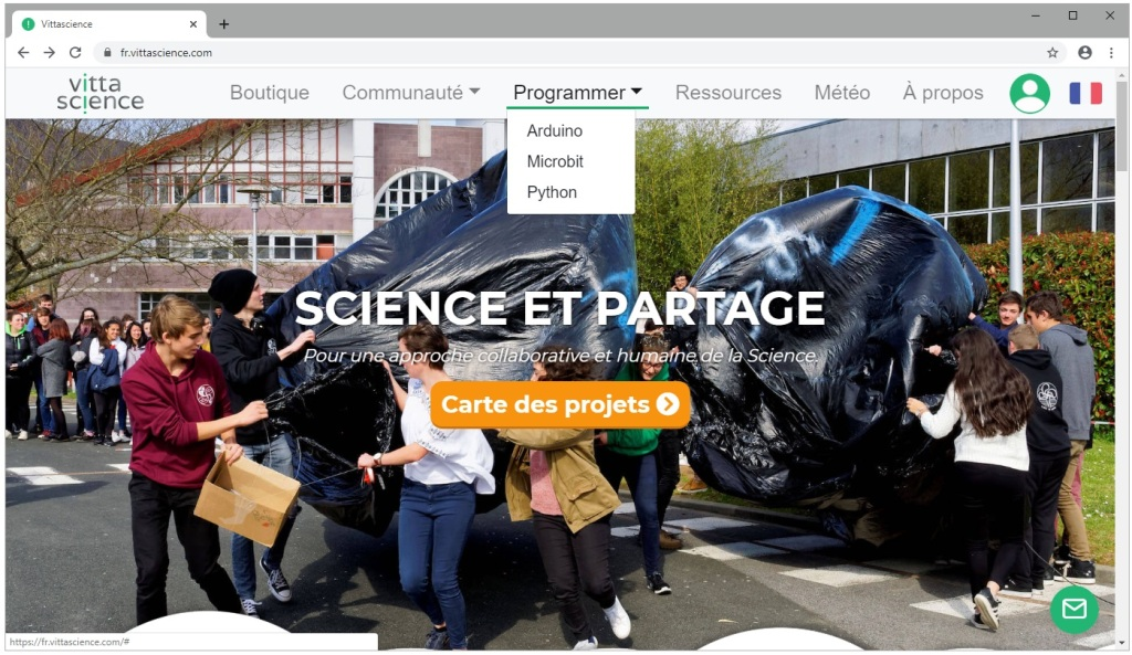 Le site internet vittascience.com