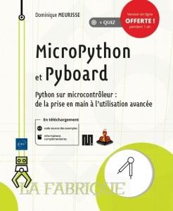 """Livre """"MicroPython et Pyboard"""" de Dominique Meurisse"""