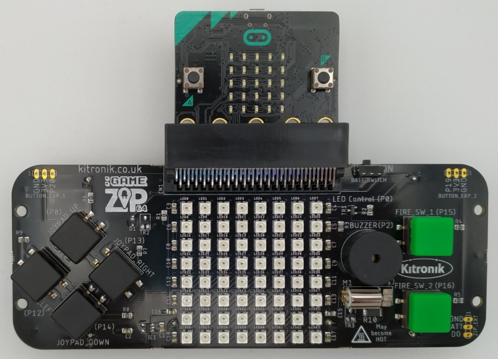 Game ZIP 64 avec un Micro:Bit