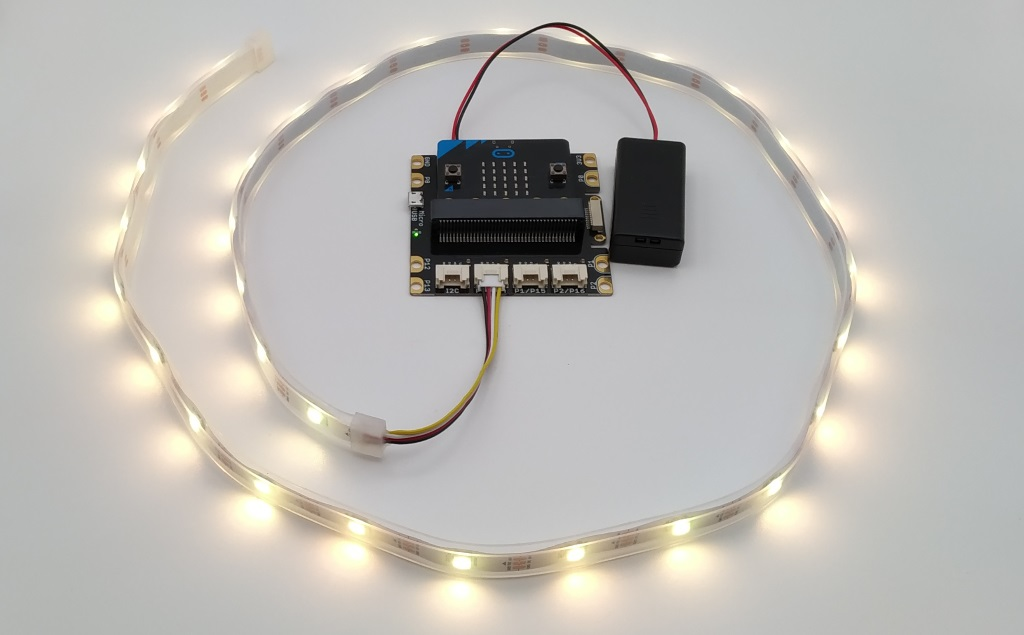 Branchement de LED Noepixels au shield grove pour Micro:Bit