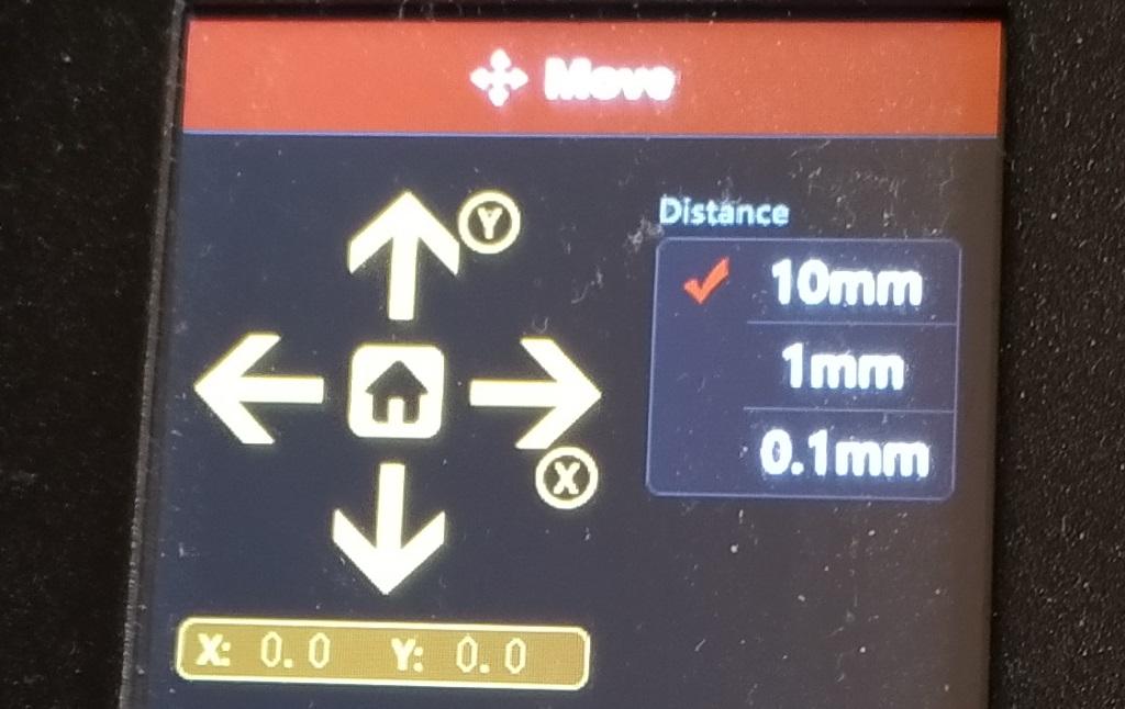 Home X/Y sur l'Alfawise U30 Pro