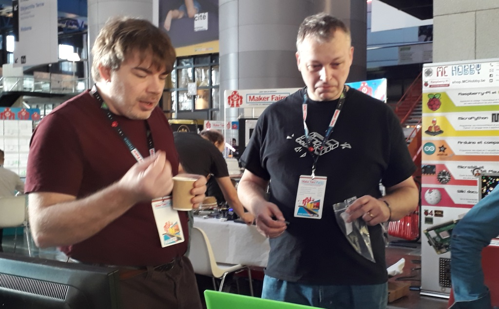 Frédéric Pierson et Dominique Meurisse à la Maker Faire de Paris 2019