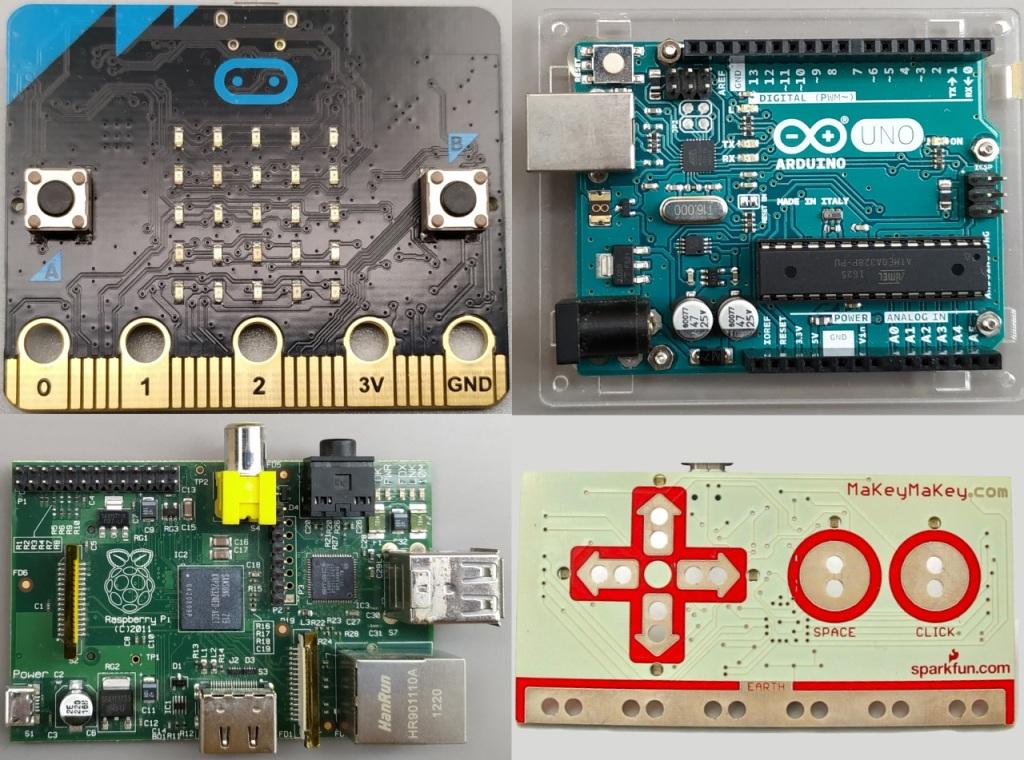 Cartes de développements micro:bit, Arduino, Raspberry Pi et MakeyMakey