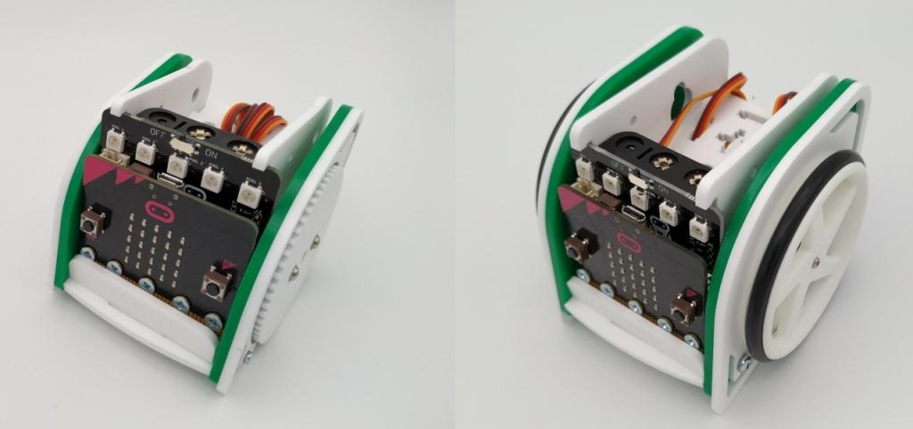 Les versions 1 et 2 du robot MOVE mini