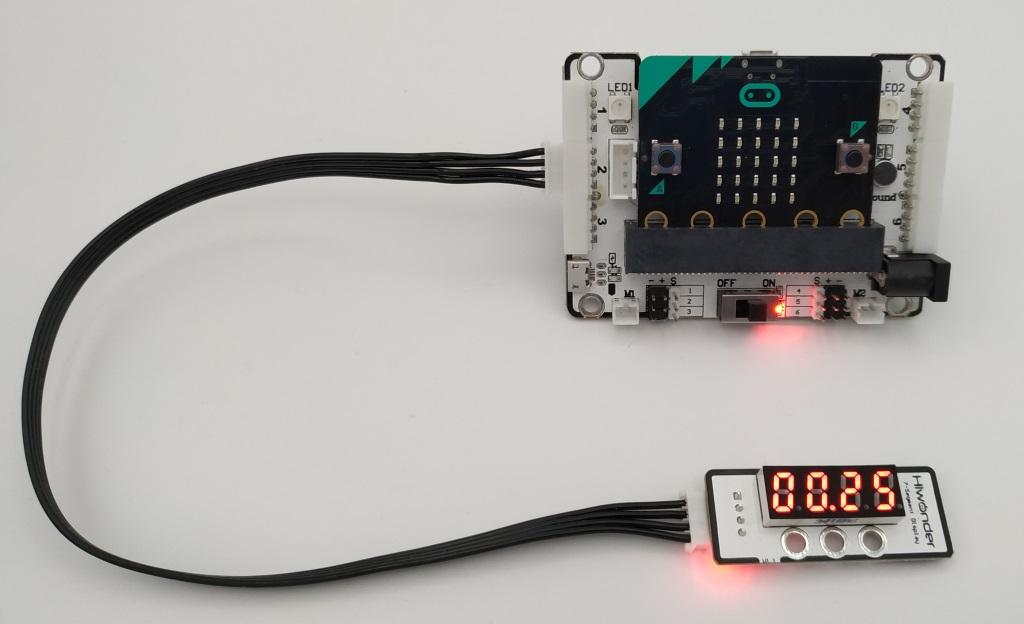 Utilisation de l'afficheur 4 chiffres 7 segments avec le Kit DaDa:bit