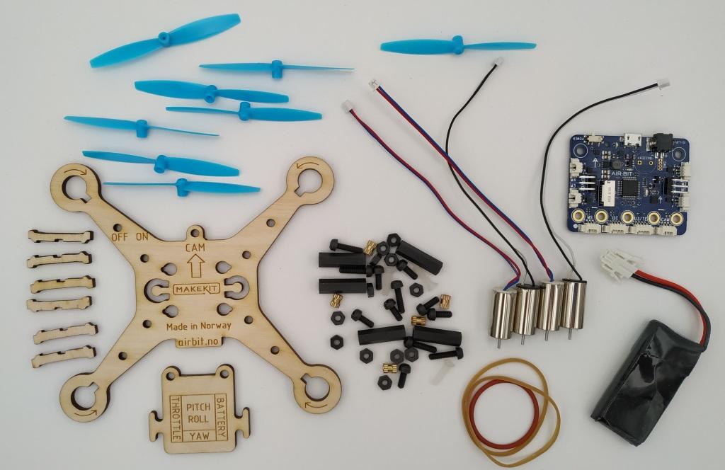 Les pièces du kit Air:bit