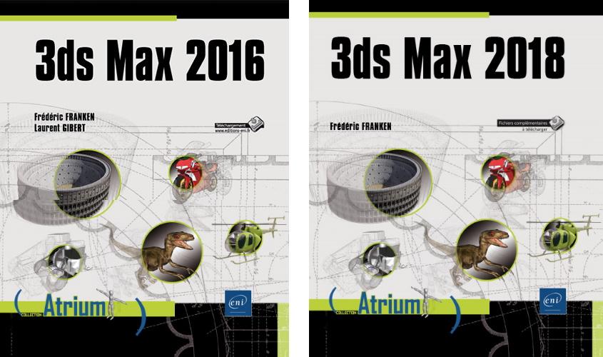 Livres de Frédéric FRANKEN sur 3Ds Max 2016 et 21018