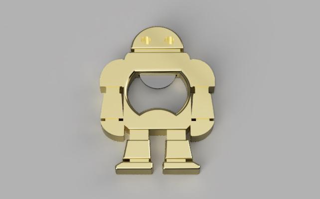 Décapsuleur-robot en or