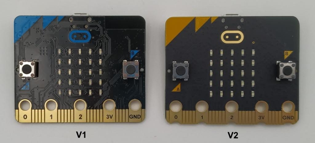 micro:bit V1 et V2 (recto)