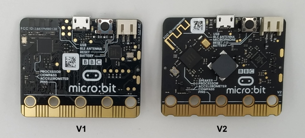 micro:bit V1 et V2 (verso)