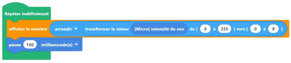 Affichage du volume sonore avec le micro:bit V2 et Vittascience