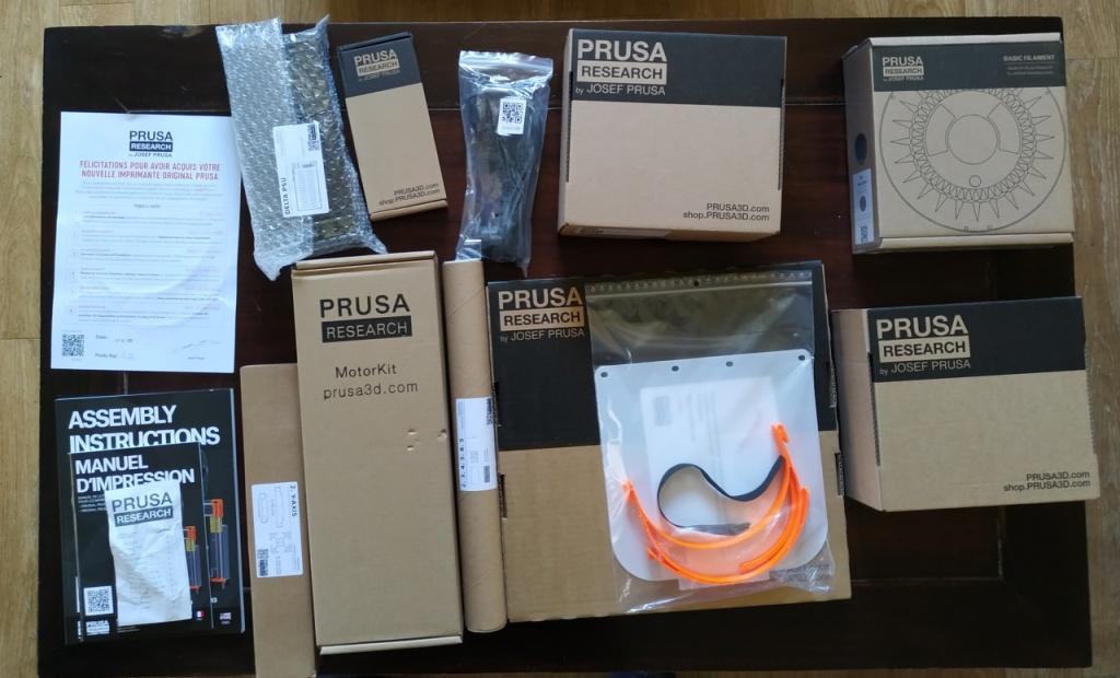 Les pièces de l'imprimante Prusa i3 MK3S en kit