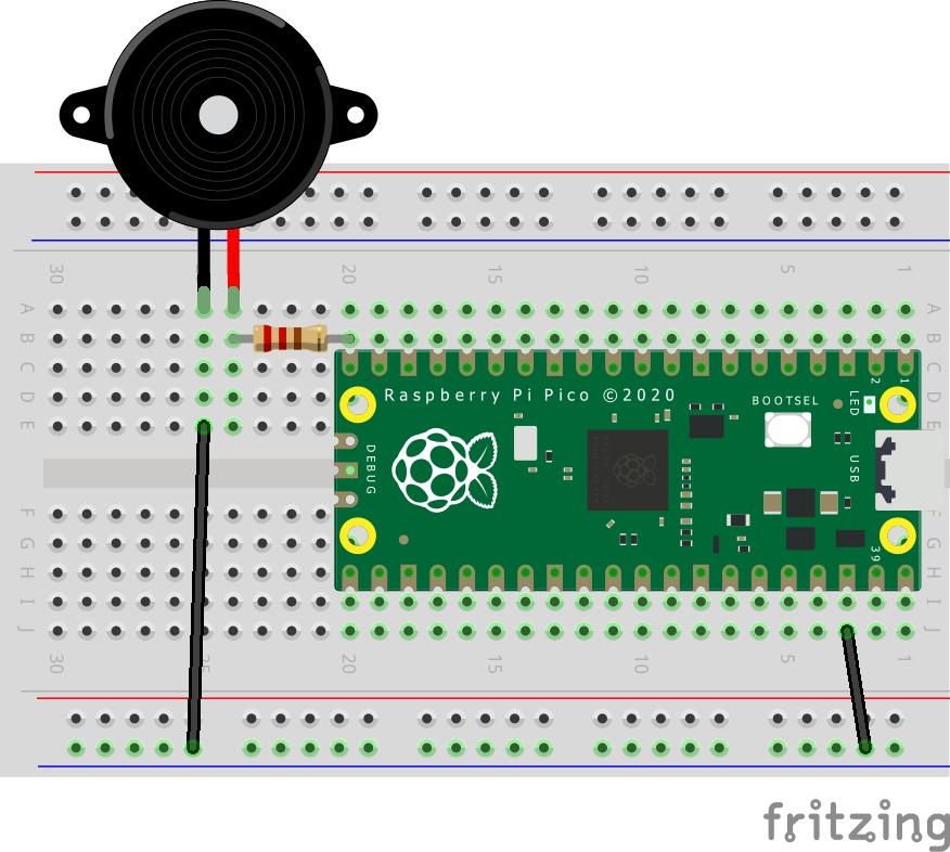 Branchement d'un Buzzer au Raspberry Pico