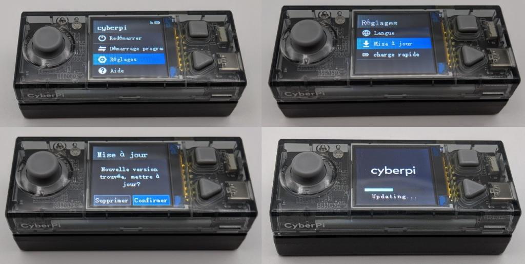 Mise à jour du firmware depuis la CyberPi connectée en WiFi