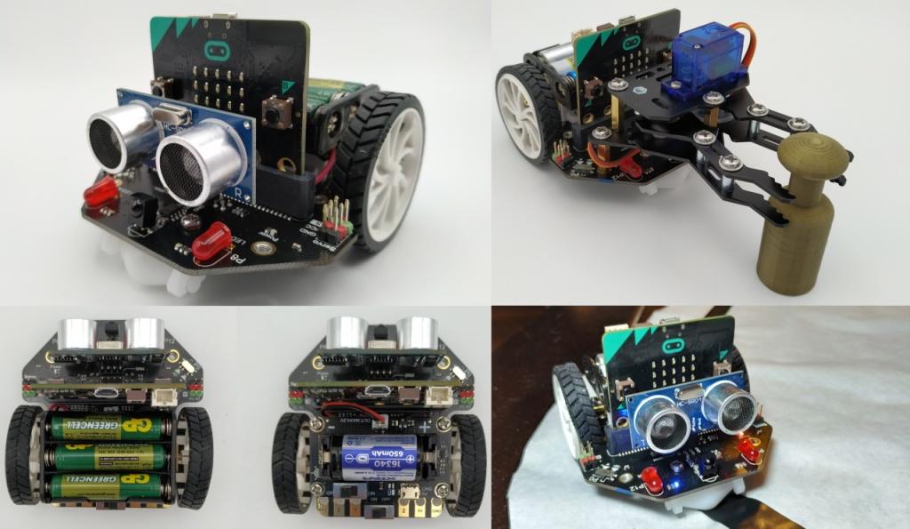 Robot Maqueen dans mon livre sur le micro:bit