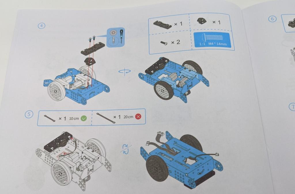 Notice de montage du robot mBot2