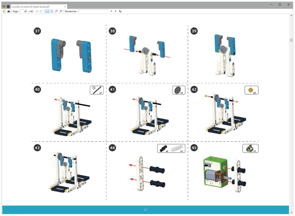 Notice de montage du robot gymnaste