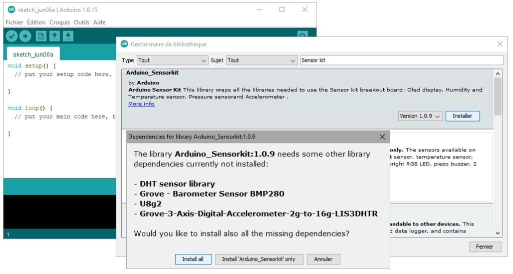 Installation automatique des dépendances de la bibliothèque