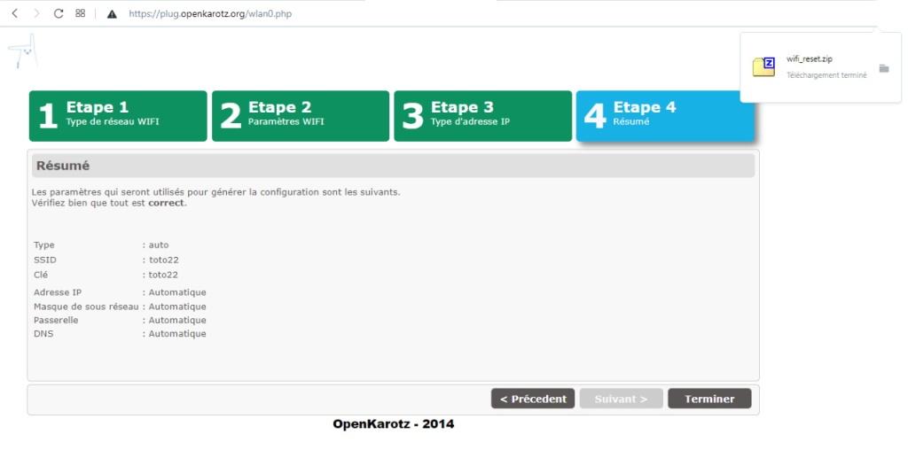 Téléchargement d'OpenKarotz