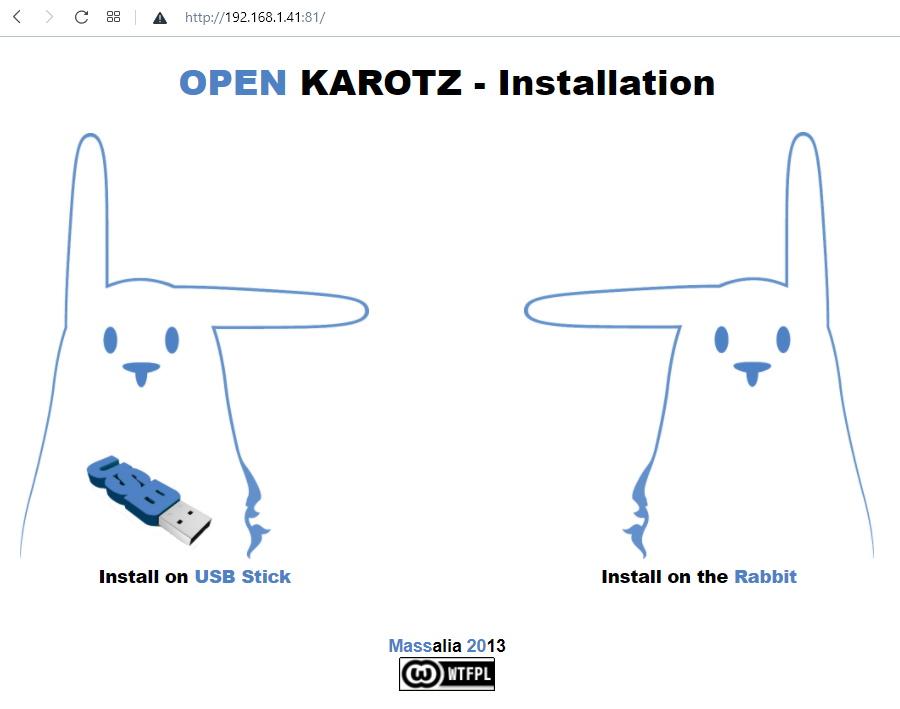Installation d'OpenKarotz