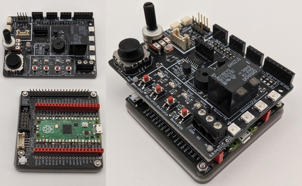 Branchement du Ludik Hat sur le PicoHat (avec un Raspberry Pi Pico)