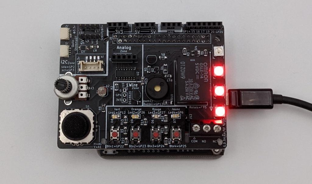 Modification de l'affichage des LED Neopixel en fonction de la luminosité