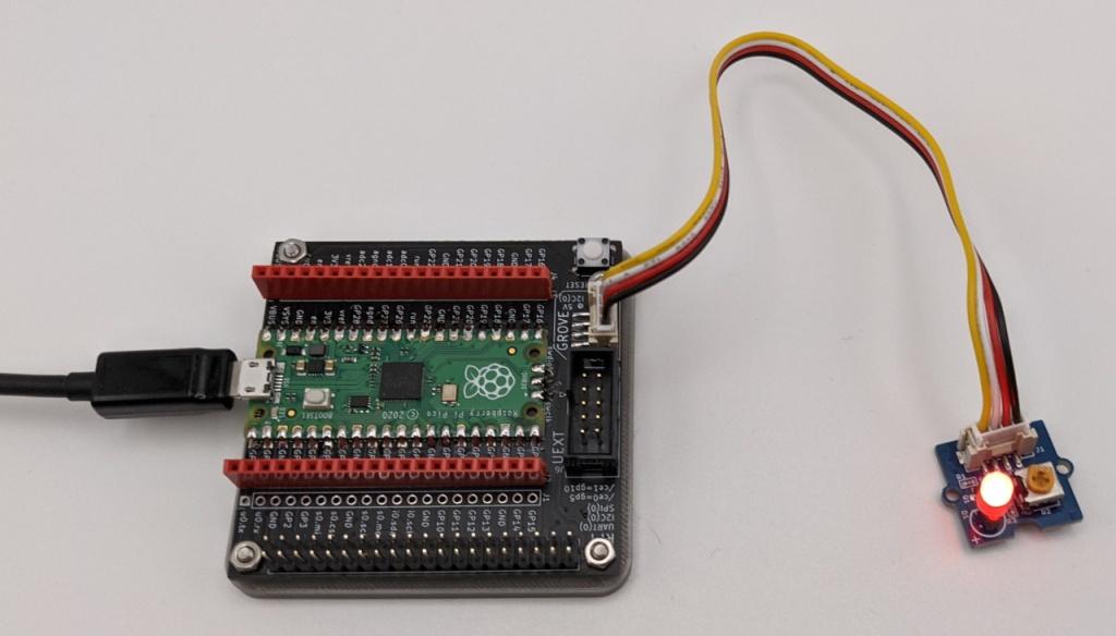 Module Grove LED sur la carte PicoHat